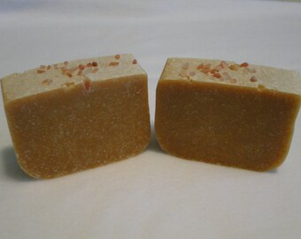 2 Bars Of Goat milk soap with Himalayan salt