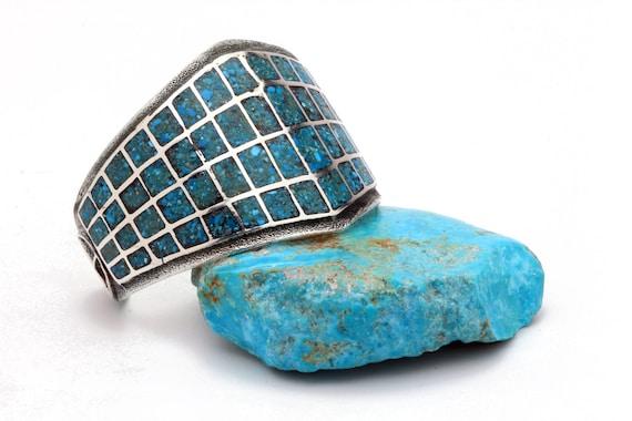 Chip Turquoise Inlay Bracelet