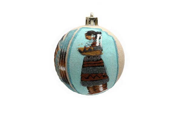 Native Sandpainting Christmas Tree Ornaments