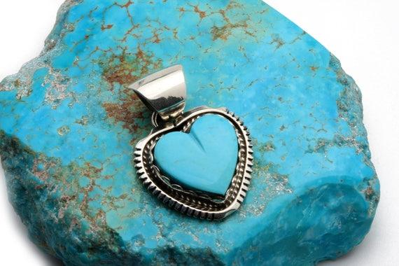 BRAND NEW! Genuine Natural Navajo Handmade Turquoise & Sterling Pendant Native American jewelry, bohemian beach wedding.