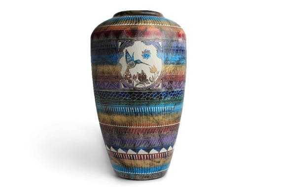 XLG Navajo Horse Hair Pottery - WHITE CLAY