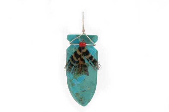 Hand Carved Arrowhead Turquoise Fetish