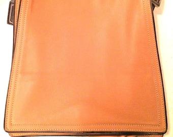 Coach Handbag Vintage  Monterey FlapTop Grain Camel Leather # 6147- EUC Crossbody Handbag Genuine Leather
