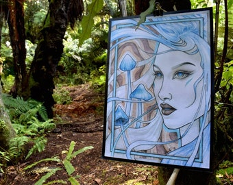 Seeing Blue - A3 Art Print
