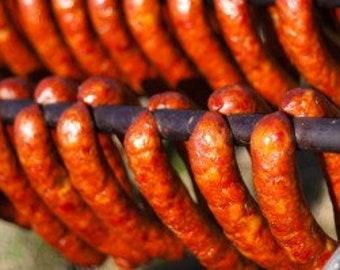 Mini Snack Sausage Pack (Kolbasz, Kolobasy)  Mini-Kabanosy Podsuszane  (Polish Kabanosy Podsuszane )  SPICY/HOT or MILD  Smoked Dry Sausages