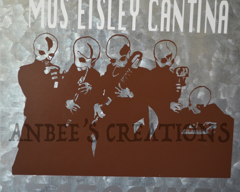 Cantina Tatooine Mos Eisley movie inspired Metal Sign