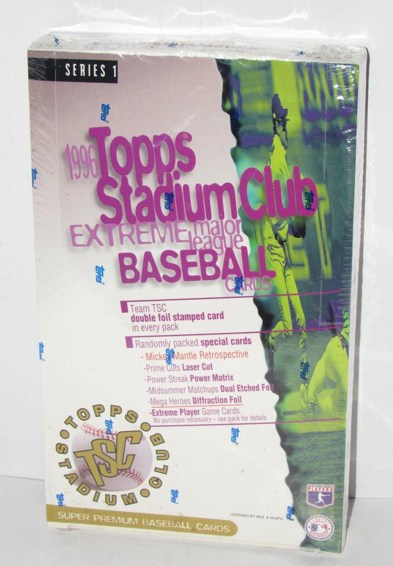 1996 Topps Stadium Club Baseball Series 1 Box