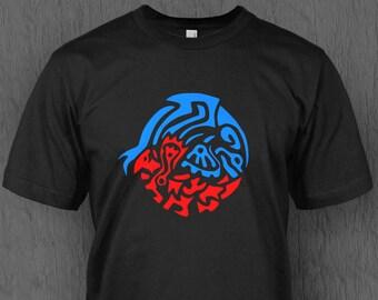 19528e81dec Tribal Kyogre and Groudon T-shirt MEN S   UNISEX