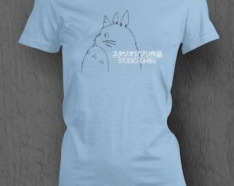 Studio Ghibli Logo T-shirt My Neighbour Totoro WOMEN'S FIT