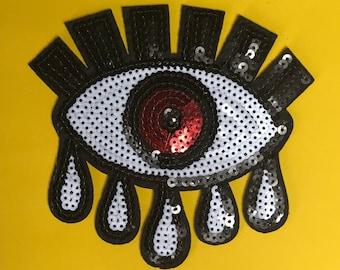 Sequin Eye Patch Third Eye Appliqué Patch