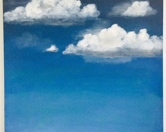 Original Acrylic Painting | Cloud Painting |Cloud Art | Landscape Painting | Painting on Canvas | Wall Art | Sara Beckley Art