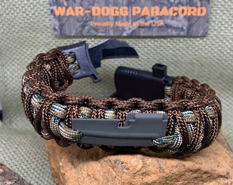 550 Paracord firecord SURVIVAL LANYARD With multi-tool free bracelet UK made.