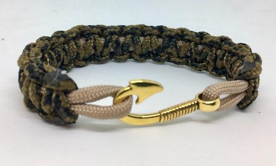 Paracord Slim Fish Hook Bracelet USA Made