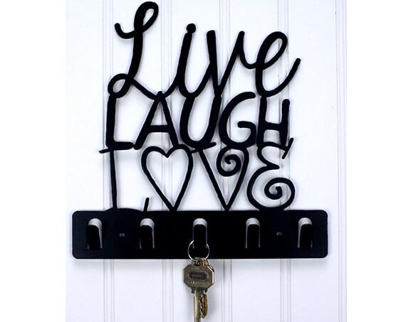 Live Laugh Love Decorative Key Holder Wall Hook Key Rack Etsy