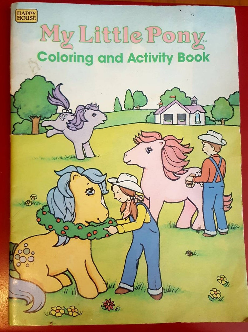 My Little Pony Rare Vintage Coloring Book