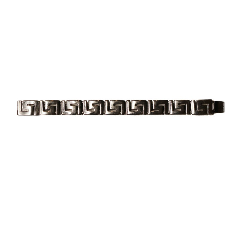 f76835939f0 Vintage Silver Versace Greek Key Bracelet