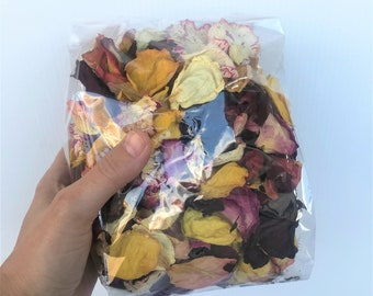 Dried Rose Petals   Botanical   Potpourri with Lavender Scent   Mixed Colors   1/2 Ounce   1 Ounce Bag   Fragrant   Package Filler  