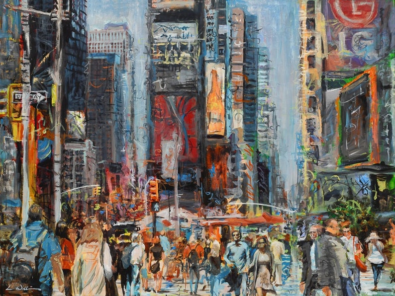 f057eec0d6e Hustlin  NYC PRINT Luster New York City Times Square