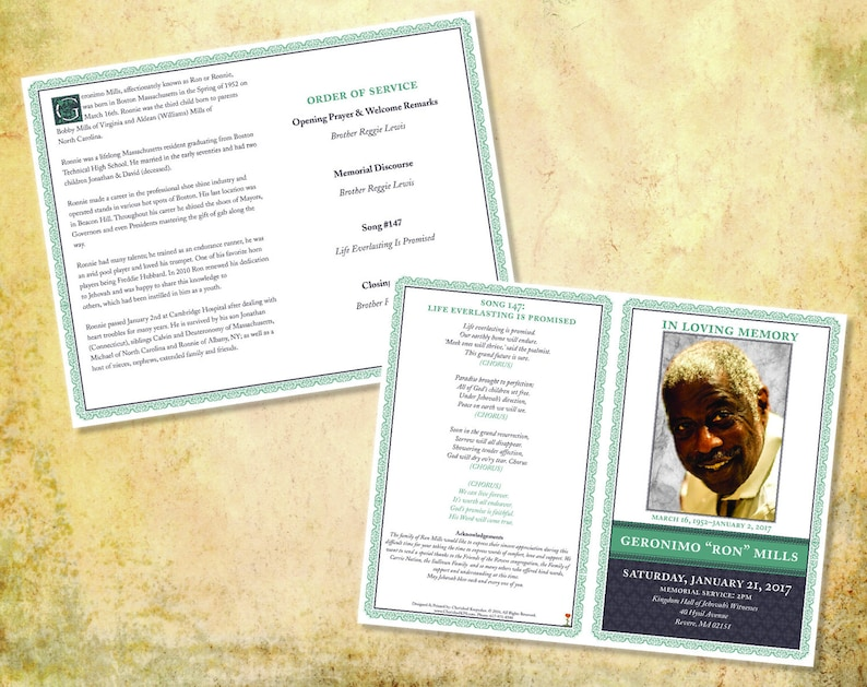 Amazing and Elegant Funeral Programs Sublime Design Collection