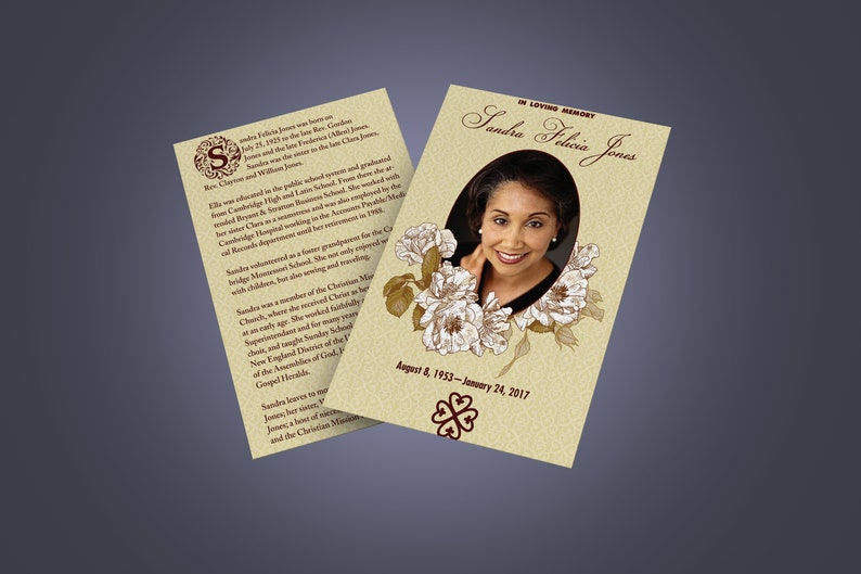 Timeless Design Collection Simple and Elegant Half-Sized Funeral Programs