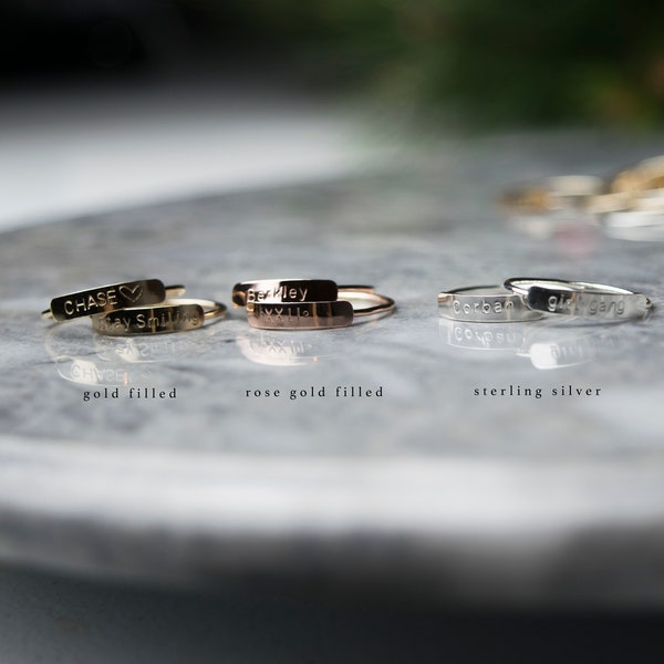 Personalized Ring Dainty Name Ring Stacking Rings Custom image 3