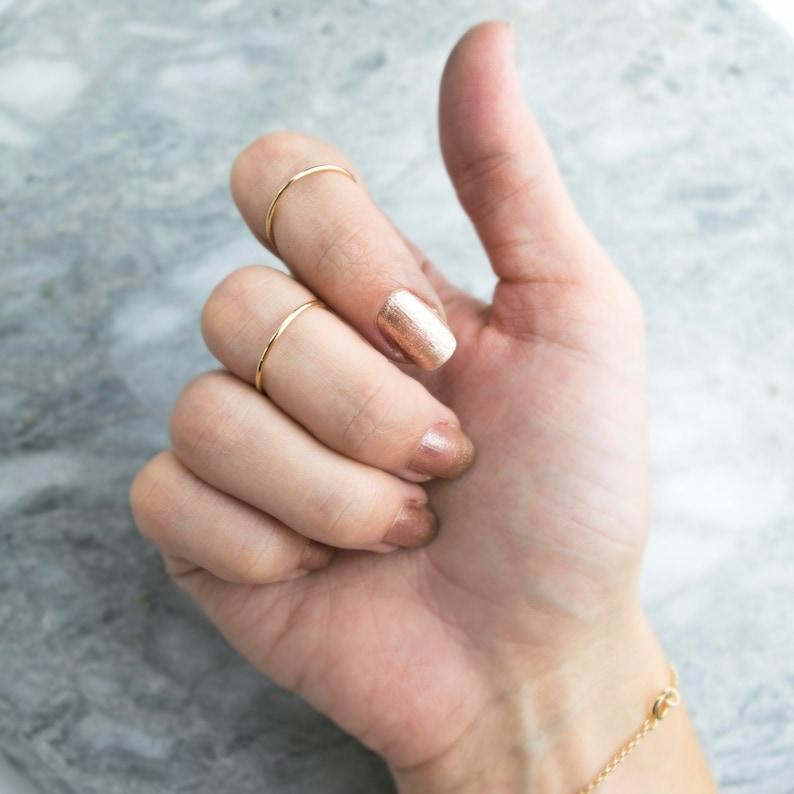 Dainty 14k Gold Filled Stacking Ring Smooth Stacking Ring image 0