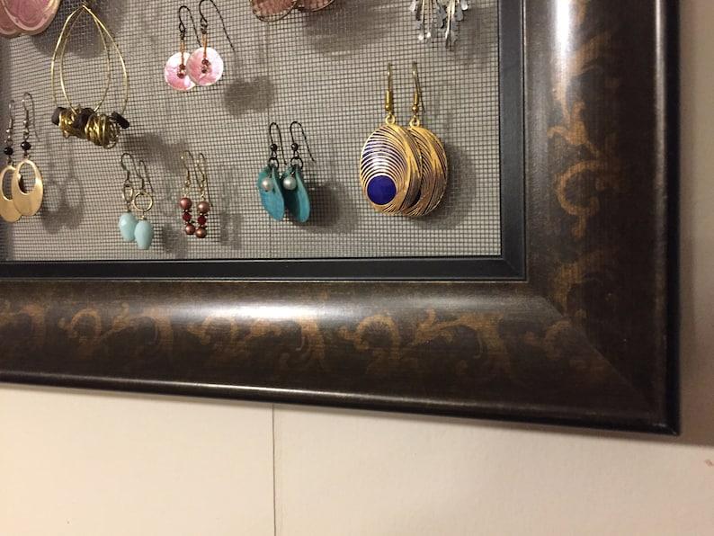 Deco 8X10 Framed Earring Holder