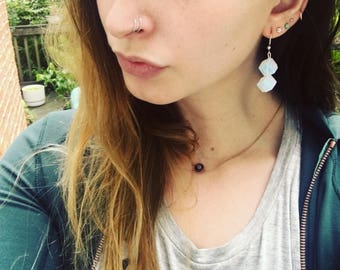 Opal Cube Earrings