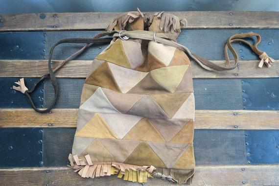 70's Soft Suede Patchwork Handbag
