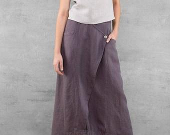 Long linen skirt, purple linen summer skirts, long skirts, linen clothes summer skirts for woman beach skirts, linen womens clothing
