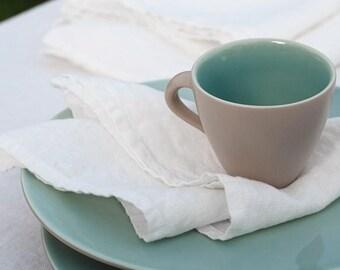 White linen napkins, washed, softened, ivory napkins, wedding napkins, table napkins, dining, table decor, softened linen