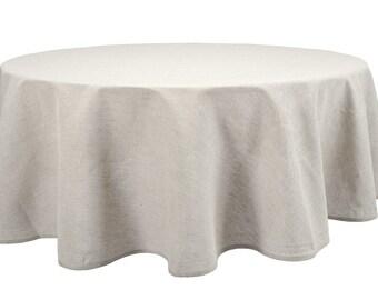 Natural Linen Tablecloth, Pure Linen Table Cover, Gray Linen Tablecloth,  Round Tablecloth, Oval Tablecloth, Large Linen Tablecloth, Small