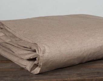 Light brown linen duvet cover, linen bedding, linen bedding set, linen duvet cover, queen duvet cover,