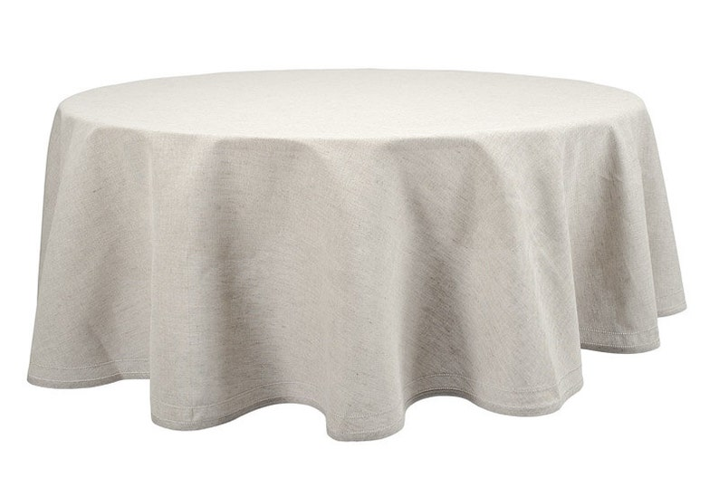 Sale Natural Linen Tablecloth Pure Linen Table Cover Gray Etsy