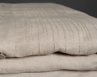 Pure linen duvet cover, linen bedding, natural fabric duvet cover, grey bedding, bedding set, raw linen queen duvet cover, king duvet cover