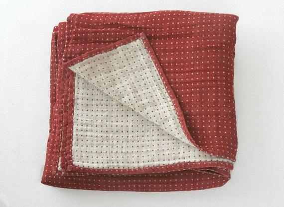 red linen blanket queen size linen blanket king size linen. Black Bedroom Furniture Sets. Home Design Ideas