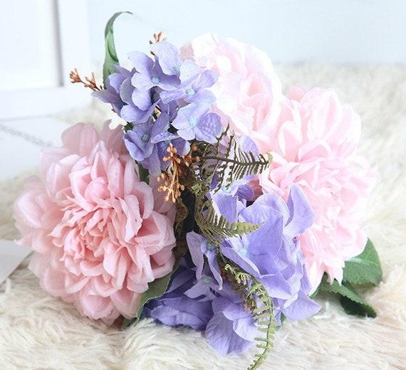 Wedding bouquet pink purple flower bouquet bride bouquet 1 etsy image 0 mightylinksfo