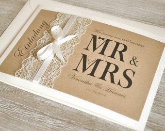 Hochzeitseinladung Vintage Etsy