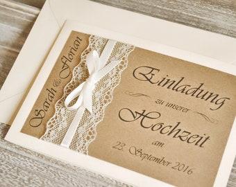 Einladungskarten Hochzeit Etsy