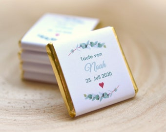 Personalized gifts for baptism - personalized chocolate tablets - with name and date - small thank you