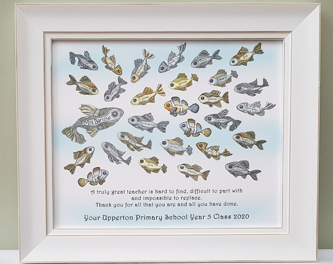 A framed Team or Class gift of thanks or appreciation a retirement or Christmas present to give to your teacher, mentor or boss.