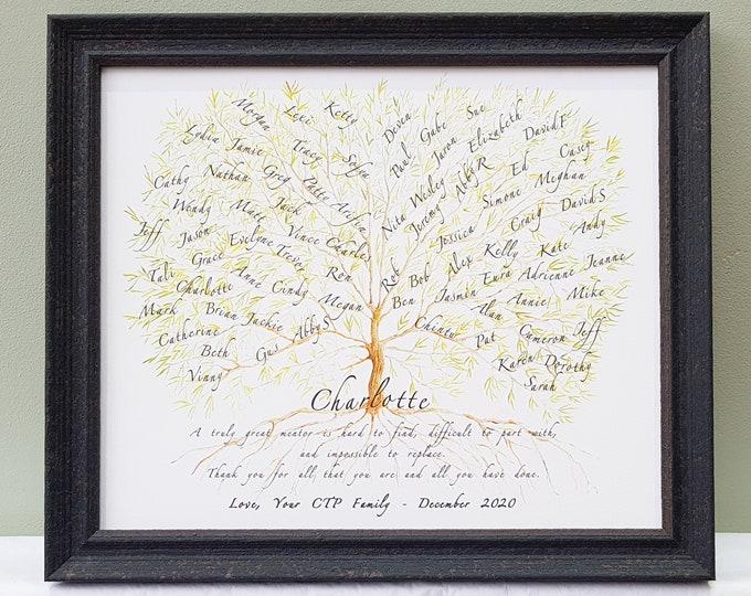 Framed Teacher Gift,Boss Framed Print,Colleague Office Leaving,Mentor Appreciation,Office Names,Work friends,Leader Retirement Personalised