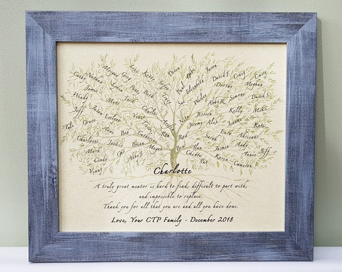Framed Gift for Mentor, Colleague, Boss or Teacher for a retirement, promotion, leaving or general 'Thank you' and appreciation