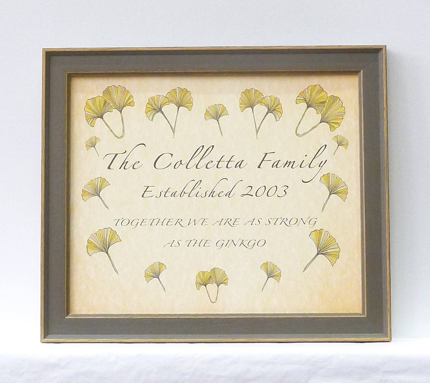 Family Name Sign, Framed Family Sign, Personalised Family Surname ...