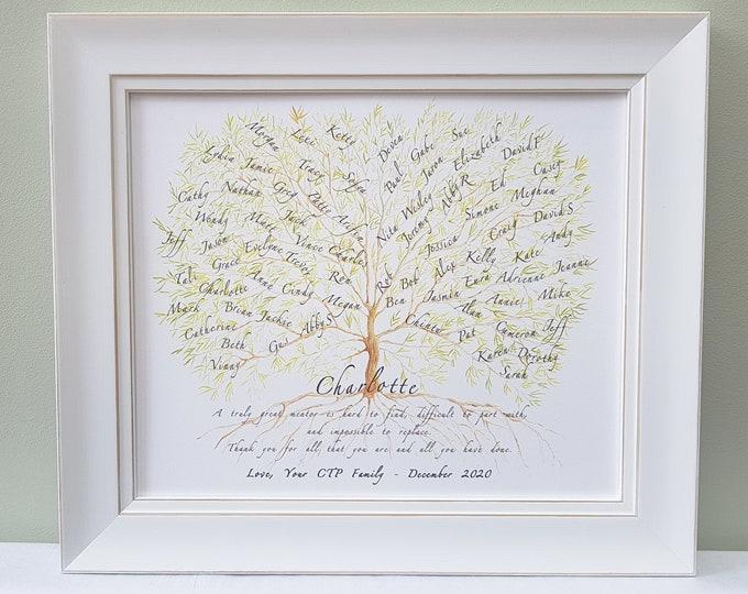 Mentor Gift Framed,Boss Retirement Plaque,Colleague Leaving Gift,Mentor Retirement,Teacher Appreciation,Class Present,Retirement Keepsake