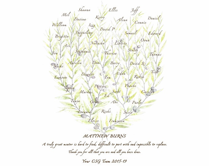 Boss Mentor Retirement Gift, Colleague Leaving Present, Personalised Farewell Art Print, Custom Promotion Congratulations, Welcome to Office