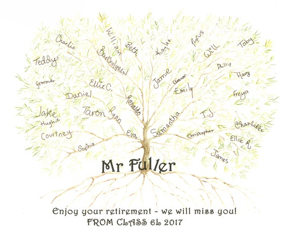 Teacher Gift JPEG, Class Gift Personalised, Leaving Gift, Teacher Retirement, Mentor Gift, Class of 2017, appreciation gift boss,