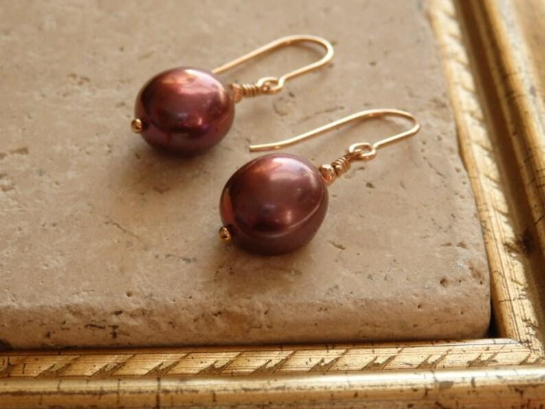 Pearl Jewellery Large Pearl bracelet Pearl Earrings Freshwater Pearl Earrings Purple Pearls Pearl Bracelet