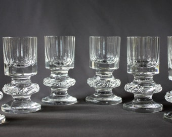 6 model Voluta Vladimir Jelinek Moser Crystal shot glasses