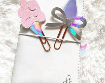 Chic Holo Clips PlannerClips/ BookMarks